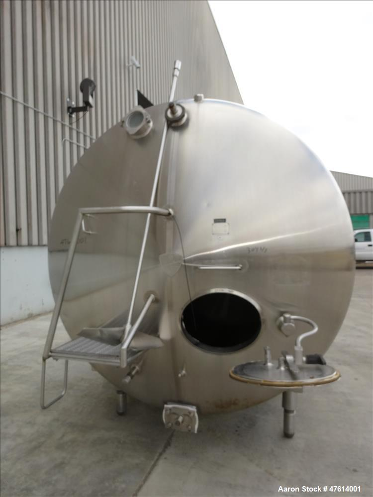 Used- Creamery Package Kettle, Approximately 2,500 Gallon, 304 Stainless steel,