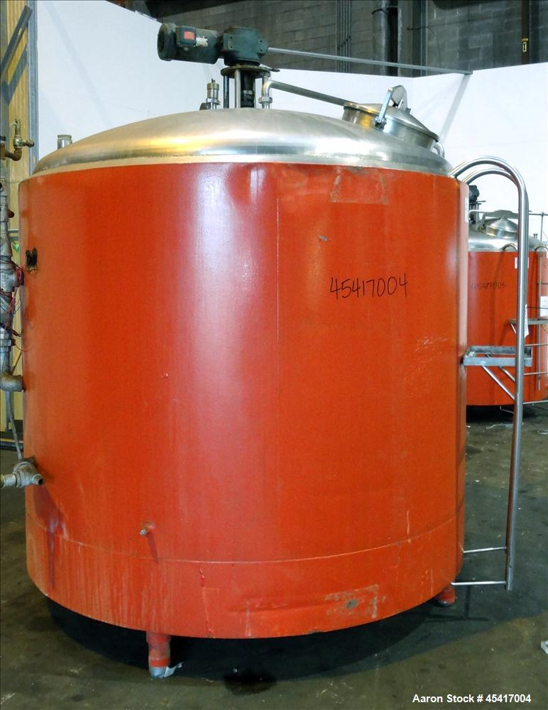 Used- 1500 Gallon Stainless Steel Crepaco Processor Kettle
