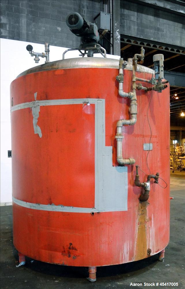 """Used- Crepaco Processor Kettle, 2500 Gallons, 304 Stainless Steel, Vertical. Approximate 96"""" Diameter x 90"""" straight side, d..."""