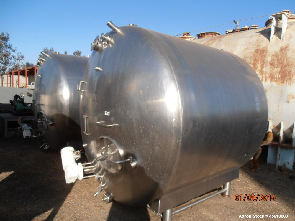 Used- 2,000 Gallon Creamery Package Tank