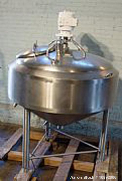 Unused-Used: Crepaco 150 gallon jacketed sweep scrape agitated kettle. Jacket rated 75 psi @ 350 deg F, -25 deg F @ 75 psi. ...