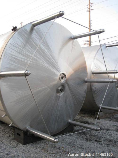 "Used-Crepaco Kettle, 5000 Gallons, 304 Stainless Steel, Vertical.  Approximately 120"" diameter x 106"" straight side, dish to..."
