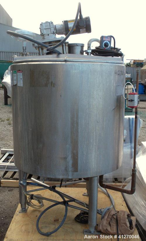 "Used- APV Crepaco Kettle, 200 Gallon, 316 Stainless Steel, Vertical. 40"" diameter x 36"" straight side, open top with (2) 1/3..."