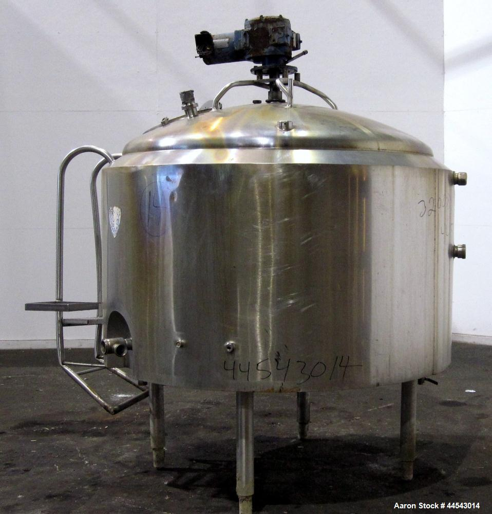 Used- 500 Gallon Stainless Steel Crepaco Kettle