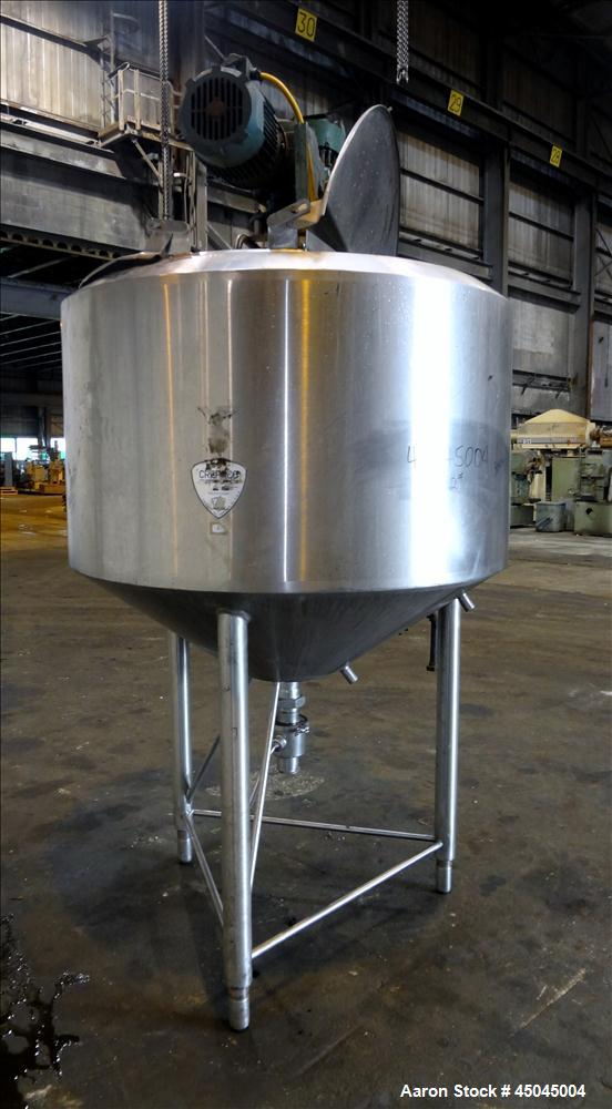 "Used- Crepaco Processor Kettle, 300 Gallon, 304 Stainless Steel, Vertical. Approximate 50"" diameter x 33"" straight side, fla..."