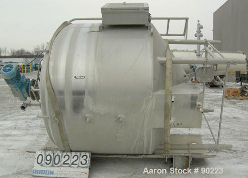 "USED: Crepaco processor/kettle, 750 gallon, 304 stainless steel, vertical. 72"" diameter x 54"" straight side. Dished top, con..."