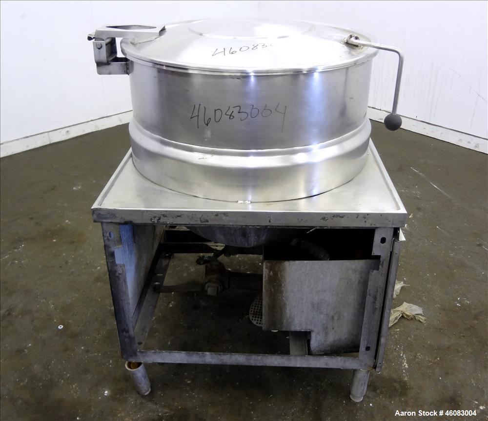 """Used- Crown Food Service Equipment Kettle, 60 Gallons, Model DMS-60, 304 Stainless Steel. 30"""" Diameter x 25"""" deep. Open top ..."""