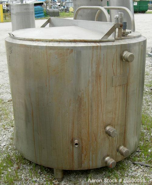 Used- Dairy Craft Kettle/Processor, 300 gallon, 304 stainless steel. Approximately 50'' diameter x 37'' straight side, dishe...