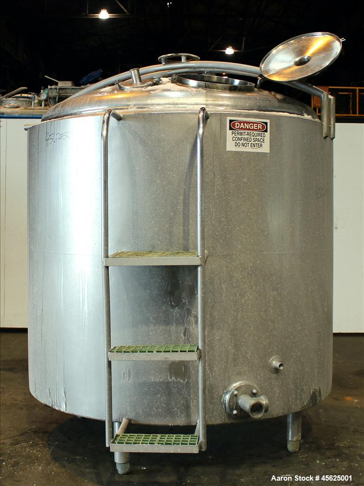 Used- Damrow Brothers Company Processor Kettle, Approximately 1000 Gallons, 304 Stainless steel, Vertical, Insulated. Approx...