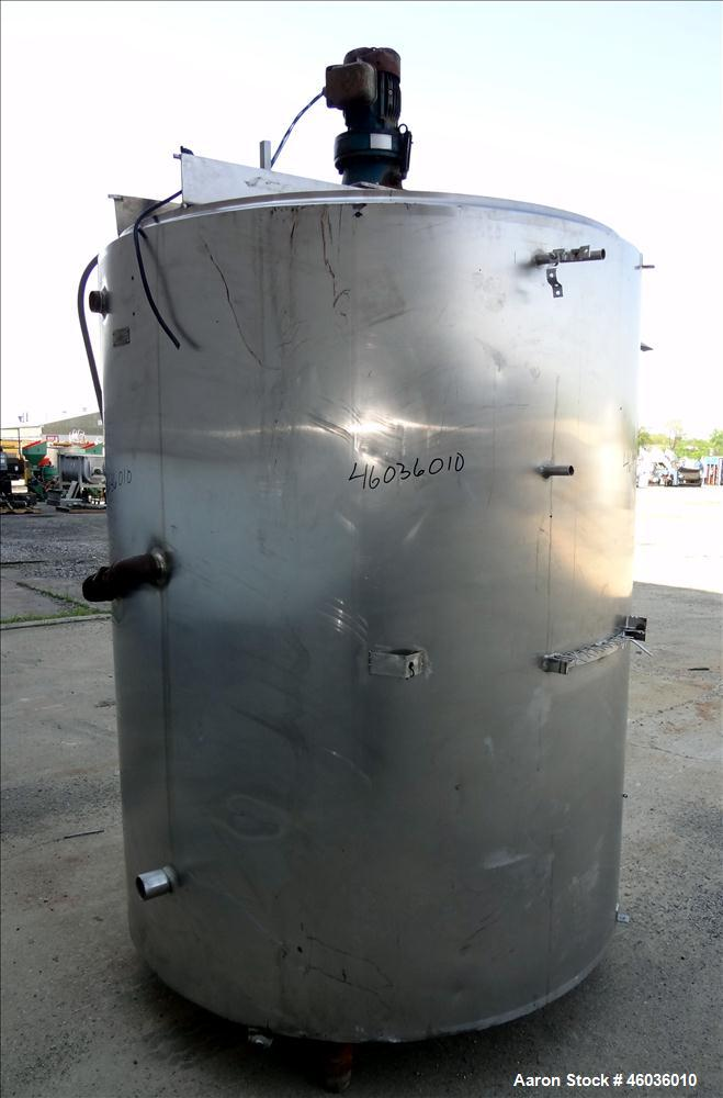 "Used- Damrow Brothers Kettle, Approximately 900 Gallon, Model Special, Type M-P-S, 304 Stainless steel, Vertical. 60"" Diamet..."