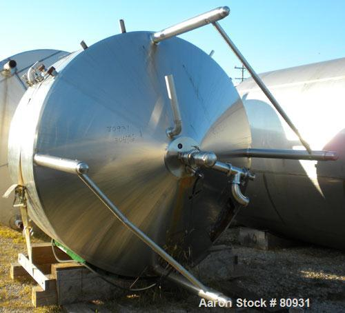 """Used- DCI Processor/Kettle, 1000 Gallon, 304 Stainless Steel, Vertical. 84"""" diameter x 36"""" straight side. Dish top, 40"""" cone..."""