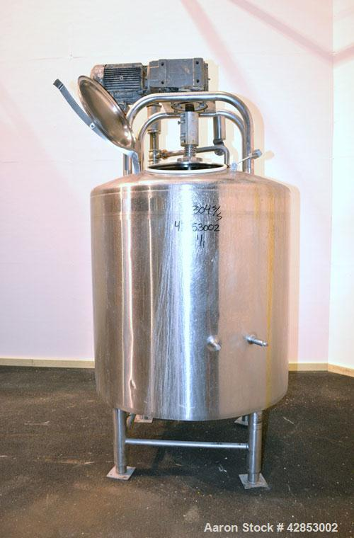 "Used- DCI Processor Kettle, 350 Gallon, Model PWP-CB, 304 Stainless Steel, Vertical. 49-1/2"" Diameter x 36-3/16"" straight si..."