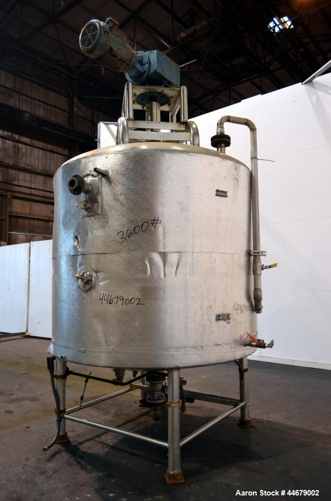 Used- 1000 Gallon Stainless Steel DCI Processor Kettle, Model PWP-CB
