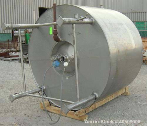 "Used- DCI Processor Kettle, 800 gallon, 304 stainless steel, vertical. 72"" diameter x 44"" straight side. Dished top, coned b..."