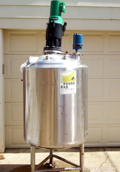 Used-DCI Tank, 100 gallon, Stainless steel.  Internal rated 14.9 psi. at 100 degrees F. Jacket M.A.W.P 150 psi at 100 degree...