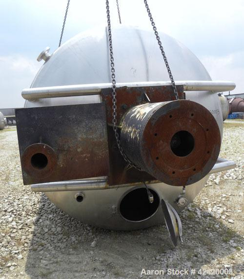 "Used- Processor Kettle, 4000 Gallon, 316 stainless steel, vertical. 90"" Diameter x 144"" straight side. Dished top, coned bot..."