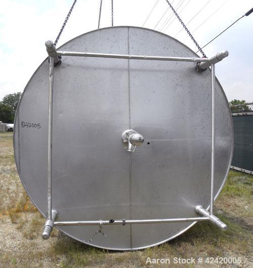 "Used- DCI Processor Kettle, 4000 Gallon, 316 Stainless Steel, Vertical. 95-3/4"" diameter x 120-3/4"" straight side. Dished to..."