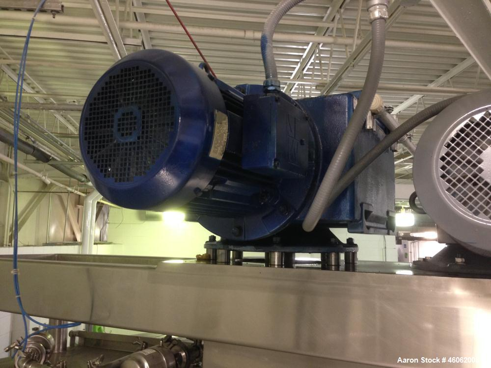 Used- DCI 6738 Gallon 316 Stainless Steel Sanitary, Jacketed, Twin Agitated Scraped Surface Processor Kettle. Serial# 84-PH-...