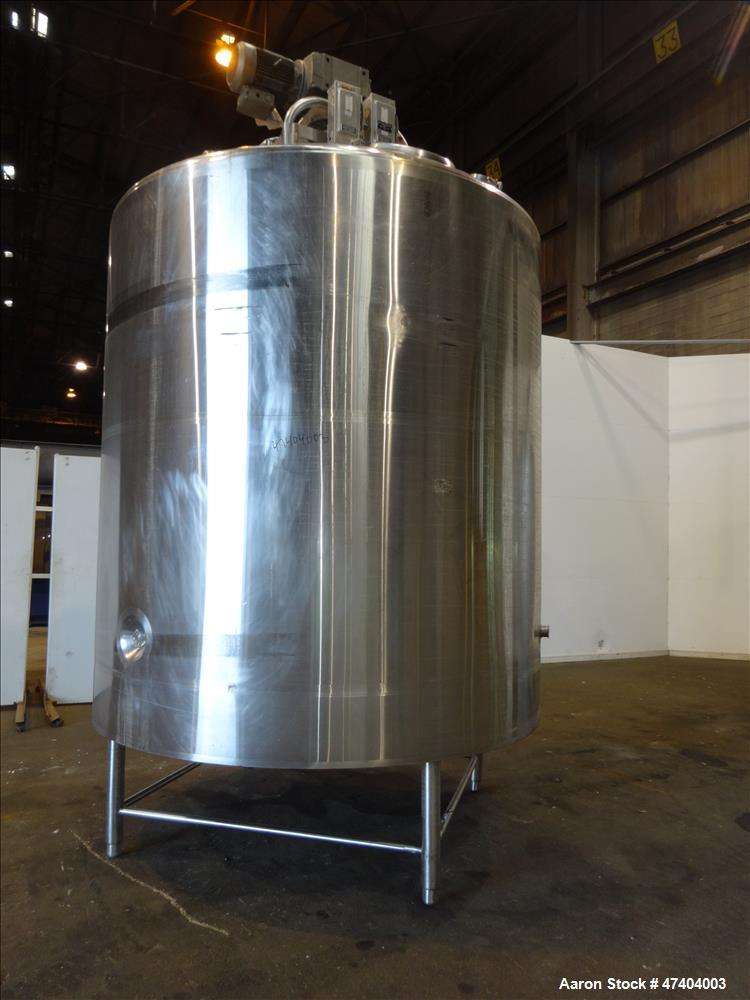Used- DCI Processor Kettle, 3000 Gallon, 304 Stainless Steel, Vertical.