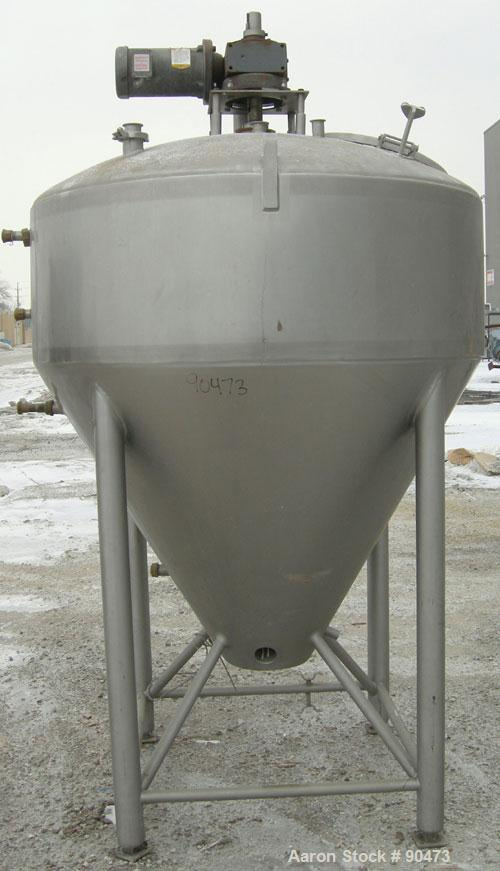 "USED- DCI Processor/Kettle, 300 Gallon, 304 Stainless Steel, Vertical. 53-3/4"" diameter x 18"" straight side. Dished top, 48""..."