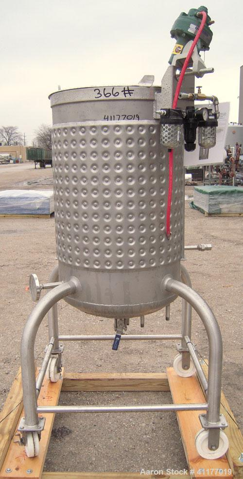 "Used- Feldmeier Kettle, 70 gallon, 316 stainless steel, vertical. 24"" diameter x 34"" straight side, open top with hinged cov..."