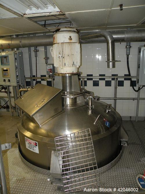 Used-Feldmeier Equipment, Kettle, 1,200 Gallon, Stainless Steel.  Internal rated atmospheric.  Jacket rated 15 psi at 250 de...