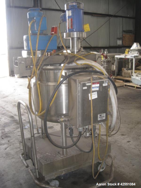 Used- 120 Liter Stainless Steel Feldmeier Twin Motion Kettle