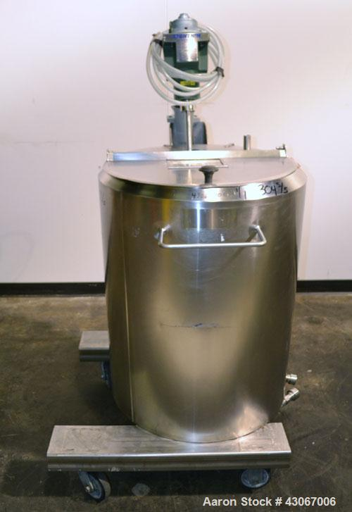 Used- Feldmeier Kettle, 50 Gallon, 304 Stainless Steel, Vertical. Approximately 24'' diameter x 28'' straight side, open top...