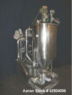 Used-Fryma Koruma Single Jacketed Mixing and Dispersing Unit.  Capacity 79 gallons (300 liters)