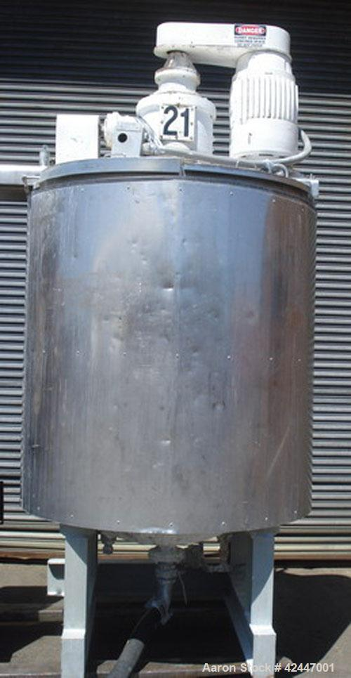 Used- Greerco Triple Motion Scraper Kettle, 500 gallon, model Agimixer, stainless steel, vertical. Per standard design, this...