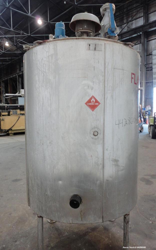 "Used- Groen Kettle, 500 Gallon, Model 500 GAL. SP., 304 Stainless Steel, Vertical. Approximate 54"" diameter x 64"" straight s..."