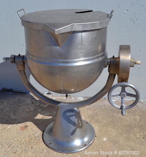 Used- 20 Gallon Stainless Steel Groen Steam Heated Kettle,Model D20