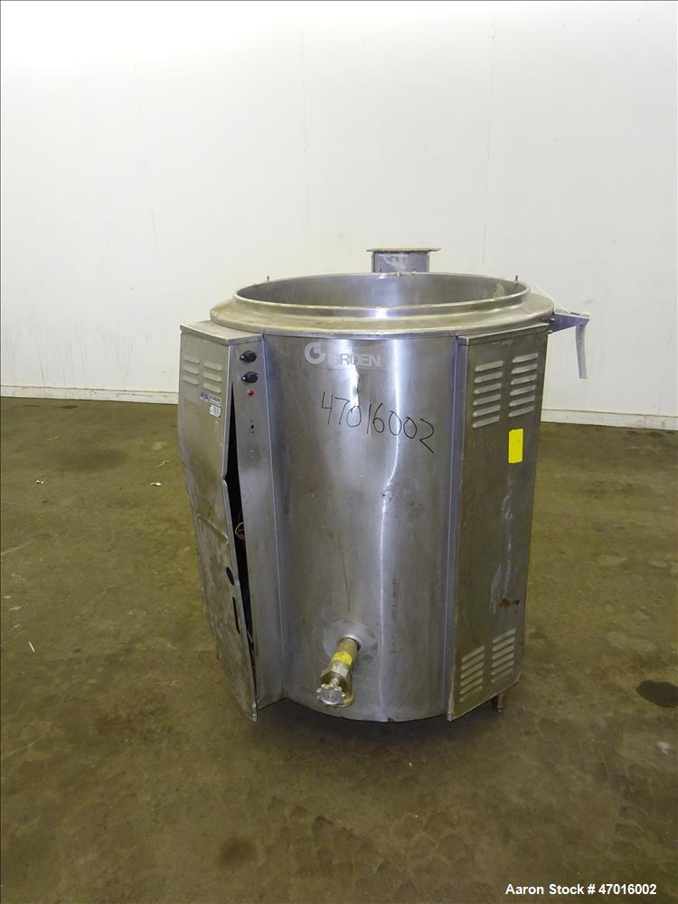Used- Groen Floor kettle, Model EE-100, 304 Stainless Steel.