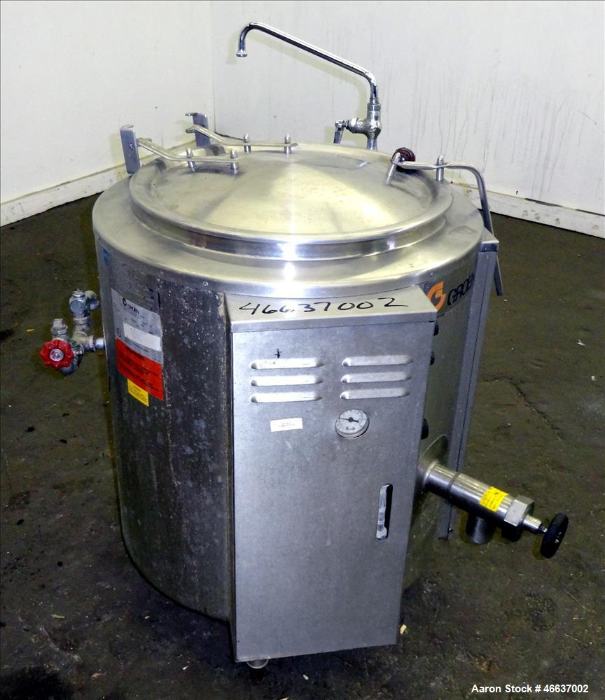 Used- Groen Kettle, Model EE-20, 20 Gallon, 304 Stainless Steel, Vertical.