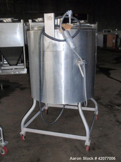 """Used- Groen Self-Contained Electrically Heated Hettle, 80 Gallon, Model EE-80, 316 stainless steel. 32"""" diameter, open top w..."""