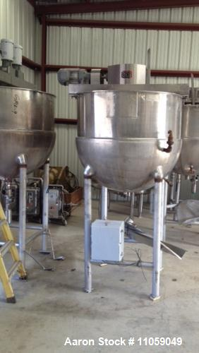 Used- 350 Gallon Groen Sanitary Kettle, Model INA/2-350
