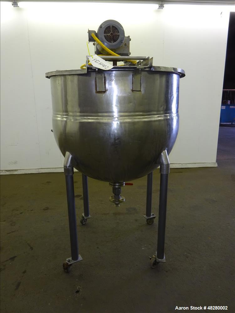 Used- Groen Kettle, 150 Gallon, 316 Stainless steel, Vertical.