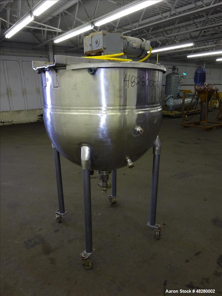 Used- Groen Kettle, 150 Gallon, 316 Stainless steel, Vertical.