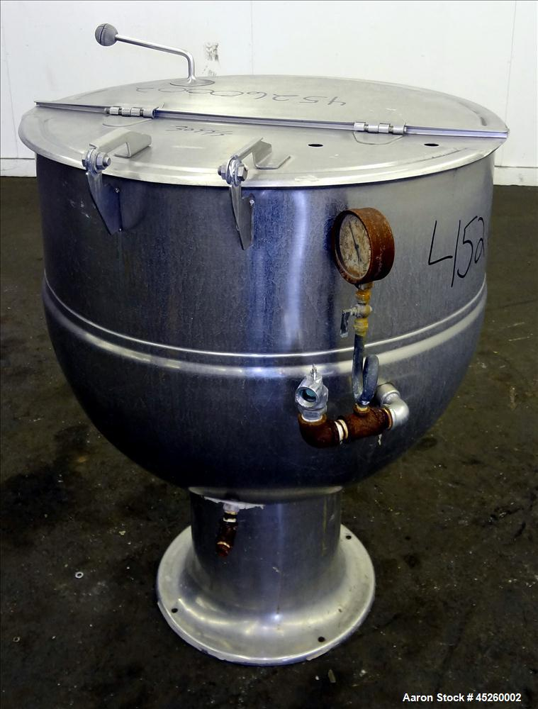 Used- 60 Gallon Stainless Steel Groen Kettle, Model PT 60