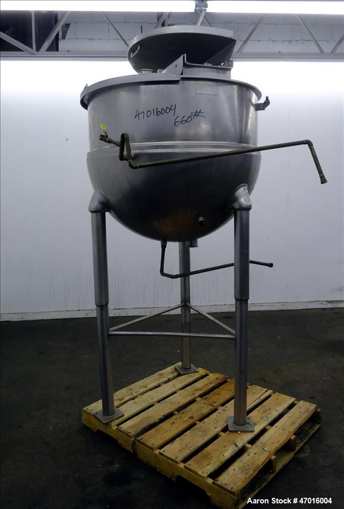 Used- Groen Kettle, Model RA-150, 150 Gallons, Stainless Steel, Vertical.