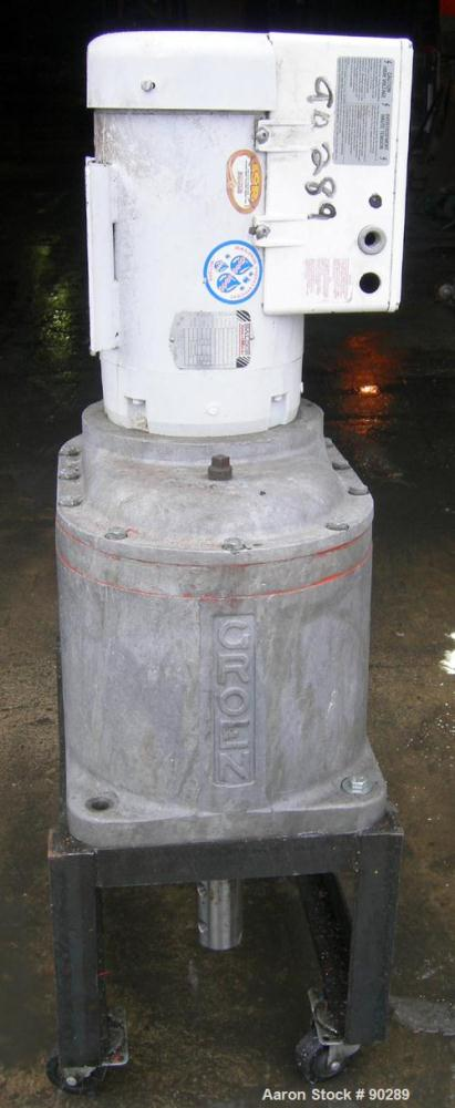 USED: Groen dual motion gearbox only, model TA-120-A. Includes a10 hp, 3/60/460 volt, 3450 rpm motor.