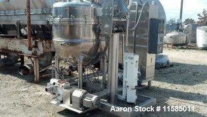 Used-Groen Stainless Steel Triple Motion Vacuum Kettle, Model TA-200.  Internal rated for vacuum at 29.9 inch Mercury.  Jack...