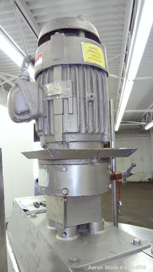 "Used- Groen Dual Agitated Kettle, 200 Gallon, Model TA-200 SP, 304 Stainless Steel, Vertical. Approximate 44"" diameter x 38""..."