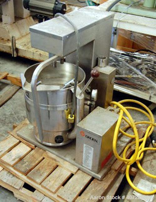 Used- Groen Kettle, Model TDB/7-20.20 quart (5 gallon) capacity, stainless steel, electrically heated (220/440 volt)jacketed...