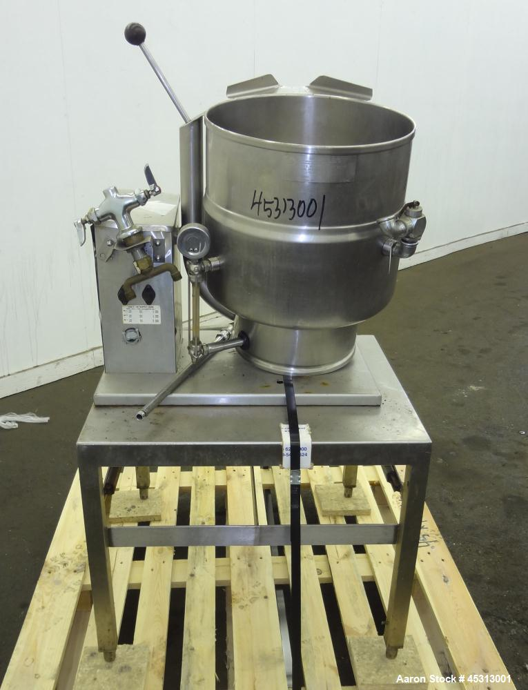 Used- 40 Quart Stainless Steel Groen Table Top Electrically Heated Kettle, Model