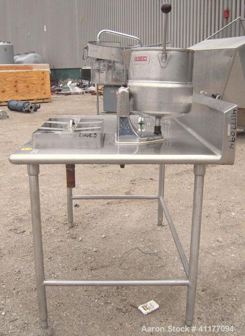 "Used- Groen Table Top Steam Jacket Kettle, 20 quart (5 gallon), Model TDC/2-20, 304 stainless steel, vertical. 12"" diameter ..."