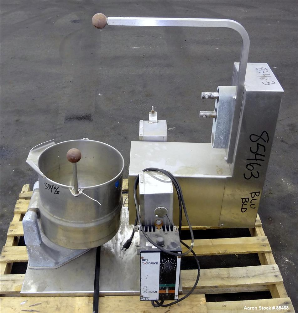 Used- 5 Gallon Stainless Steel Groen Steam Jacketed Kettle, Model TDC/2-20