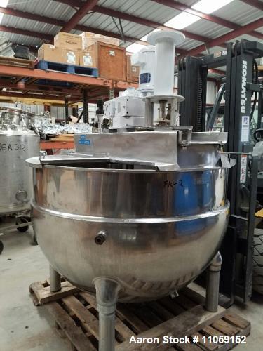 Used- 250 Gallon Groen Jacketed Mixing Kettle, Model NEM-250.