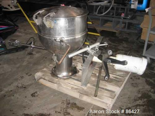 USED: Groen stainless steel