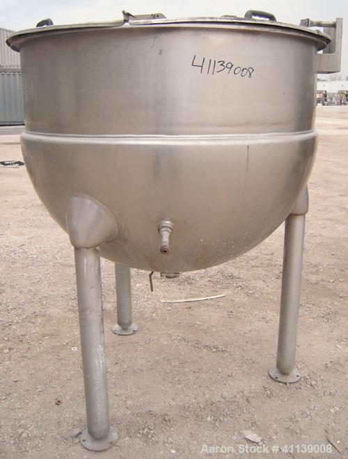 "Used- Hamilton Kettle, 200 Gallon, Style SA, 316 Stainless Steel, Vertical. 48"" diameter x approximately 36"" deep. Flat top ..."